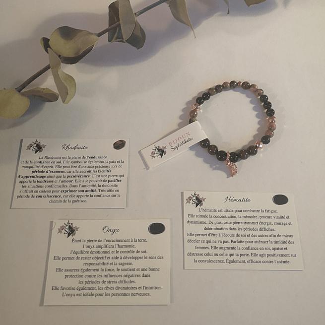 Bracelet L'Alignée pierres semi-précieuses